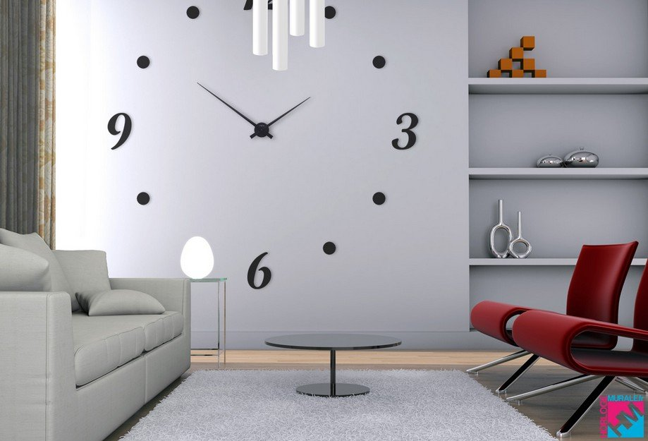 horloge geante murale design de maison. Black Bedroom Furniture Sets. Home Design Ideas