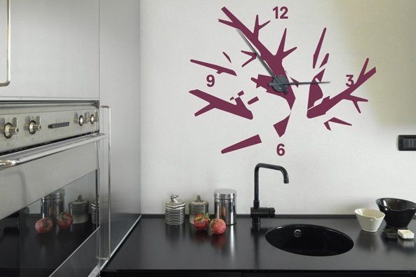 Horloge De Salon Mural Design A Pile : Les horloges murales décoratives objets decoration