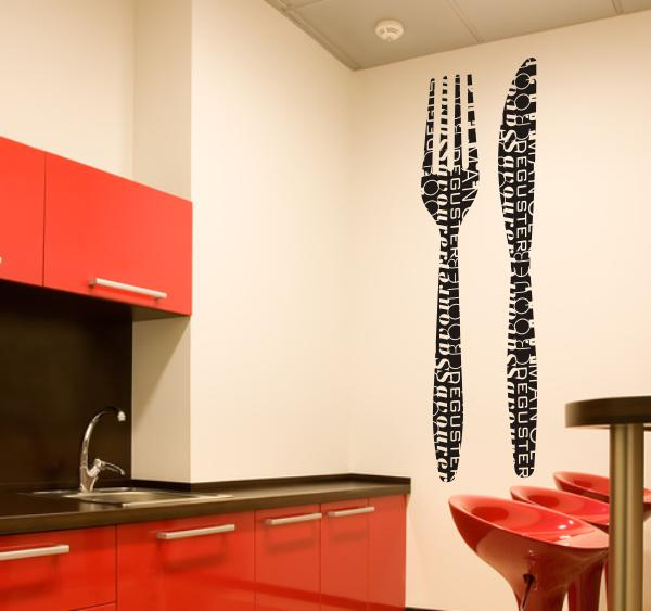 Zag bijoux decoration murale cuisine design for Deco murale 3 couverts